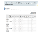 【Support Information】Display Language Support List for Recorders thumbnail