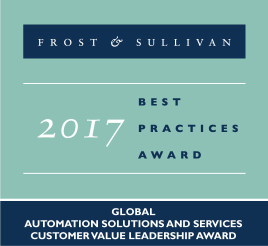 Frost & Sullivan 2017 Best Practices Award in Global Automation Solutions and Services Customer Value Leadership Award