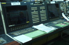 Operator console in the control room