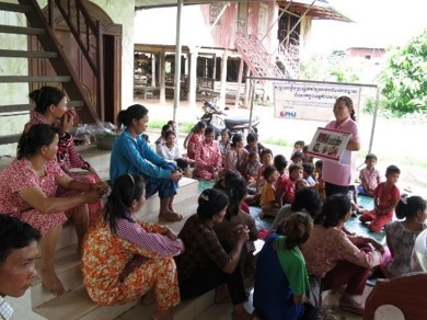 Education on health of mothers and children in a village of Cambodia