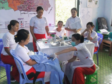 Education to train midwives in Myanmar