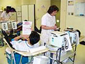 Blood donation at Yokogawa Clinical Center