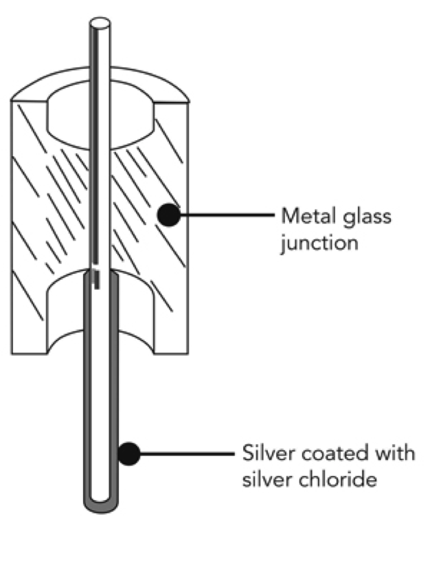Normal Reference System: This relies on a silver wire coated with silver chlorine.