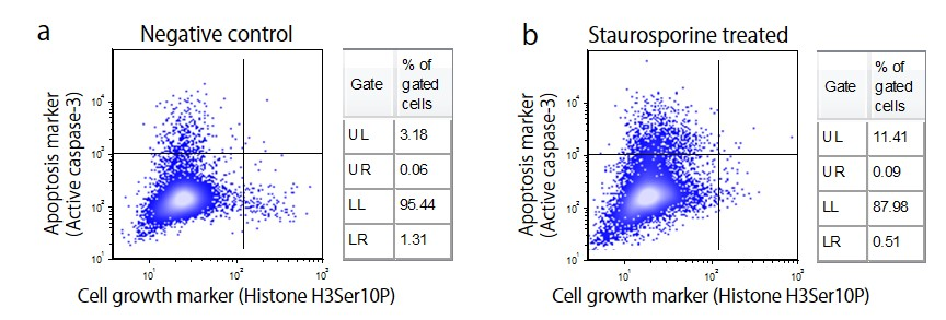 Figure 3.  Multi-parametric analysis of two cell markers