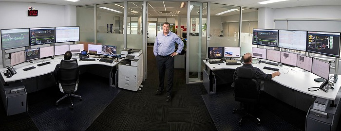 Image 3: Territory Generation CEO Tim Duignan in the Remote Operations Center (ROC)