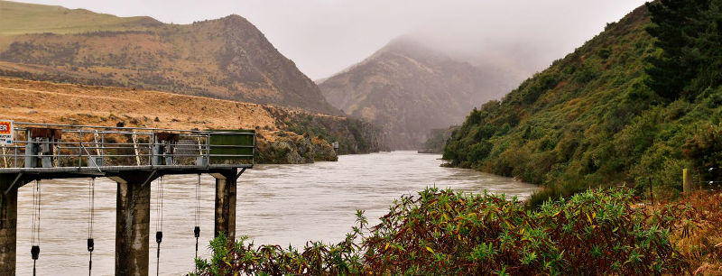 Water offtake point, Rangitata river, New Zealand