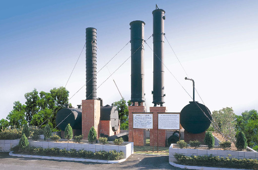 "These benzene distillation units were certified as a ""Heritage of Industrial Modernization."""