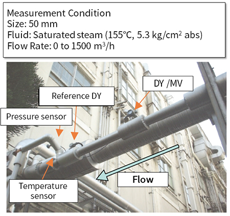 digitalYEWFLO Vortex Flow  - Application - Measurement of Saturated Steam Flow Rate - Process Outline