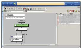 Figure 4: This advanced alarm summary window uses a flow chart