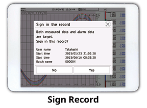 Sign Record