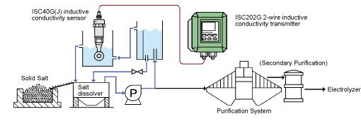 Inductive Conductivity Sensor & Transmitter Installation Diagram