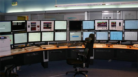 Central control room at Den Helder