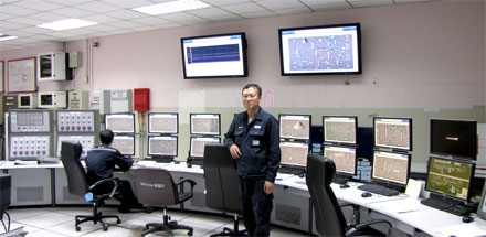 Somnuk Boonprasert, IRPC's instrument supervisor, in the central