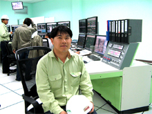 Mr. Sayan in the control room