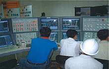 Station staff training on the simulator