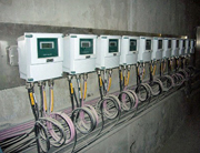 A row of Yokogawa magnetic flowmeters