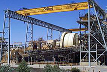 Fimiston Plant (crushing, grinding, floatation, gold recovery, carbon leaching)