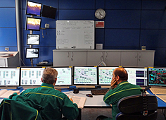 DCS-HMI stations in central control room