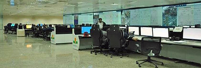 The central control room