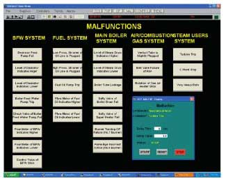 Figure 2 Example of Trouble Generation Screen for Trainer