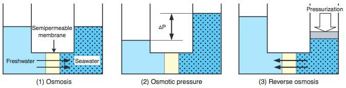 Figure 2 Principle of Reverse Osmosis Method