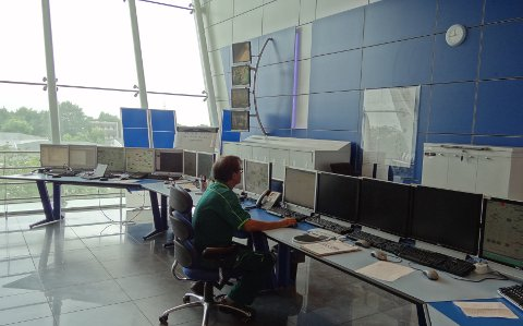 HMI stations in central control room