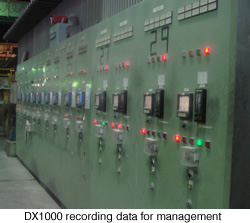 DX1000 recording data for management