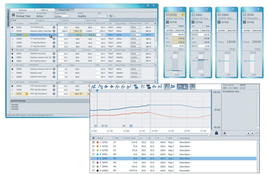Enhanced Operator Interface of Platform for Advanced Control and Estimation