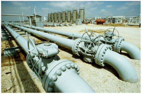 onshore pipe line