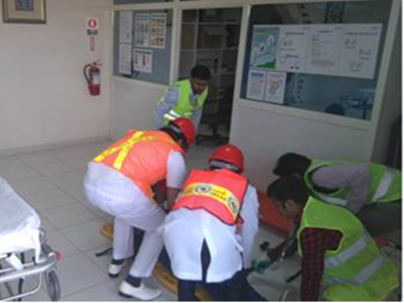 Evacuation drill carried out in HSE Week (Yokogawa Middle East & Africa)