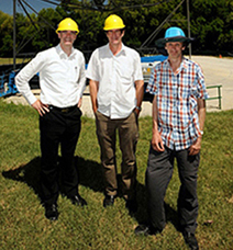 Left to right:  Mark Biggin, Yokogawa Australia / Mr. Burgess, ANU / Dr. Lovegrove, ANU