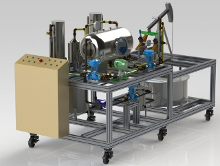 Micro pumping unit and three phase separator