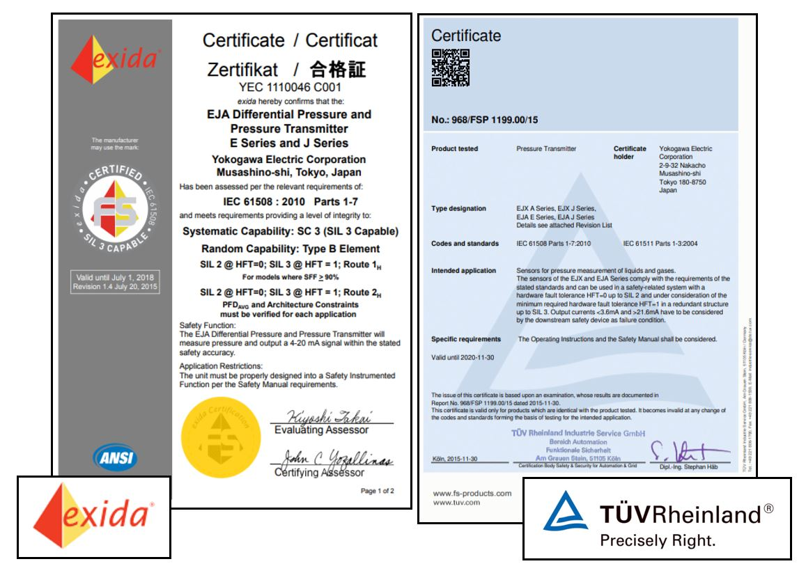 Eja530e Yokogawa Canada Pressure Transmitter Wiring Diagram Inherently Safe Reliability