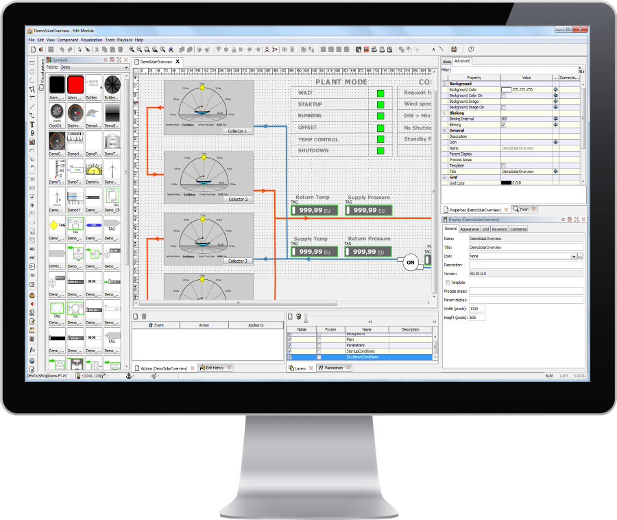 Flexible HMI modeling