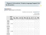 【Support-Informationen】Liste der unterstützten Anzeigesprachen für Aufzeichnungsgeräte thumbnail