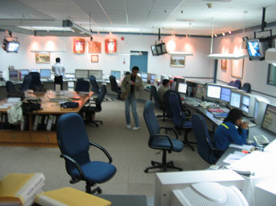 Pre-revamp central control room with legacy system