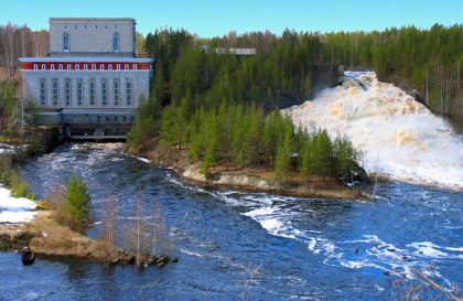 The Pal'eozersk hydro power plant in Russia