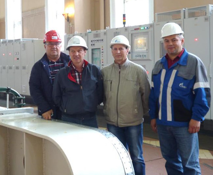 Pal'eozersk HPP operators and project members