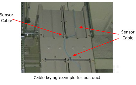 Cable laying example for bus duct