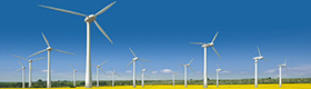 Energía Eólica vista en miniatura