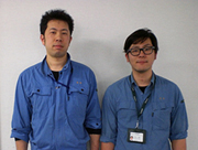 Mr. Matsuda and Mr.Tamaki of the IT Management Section