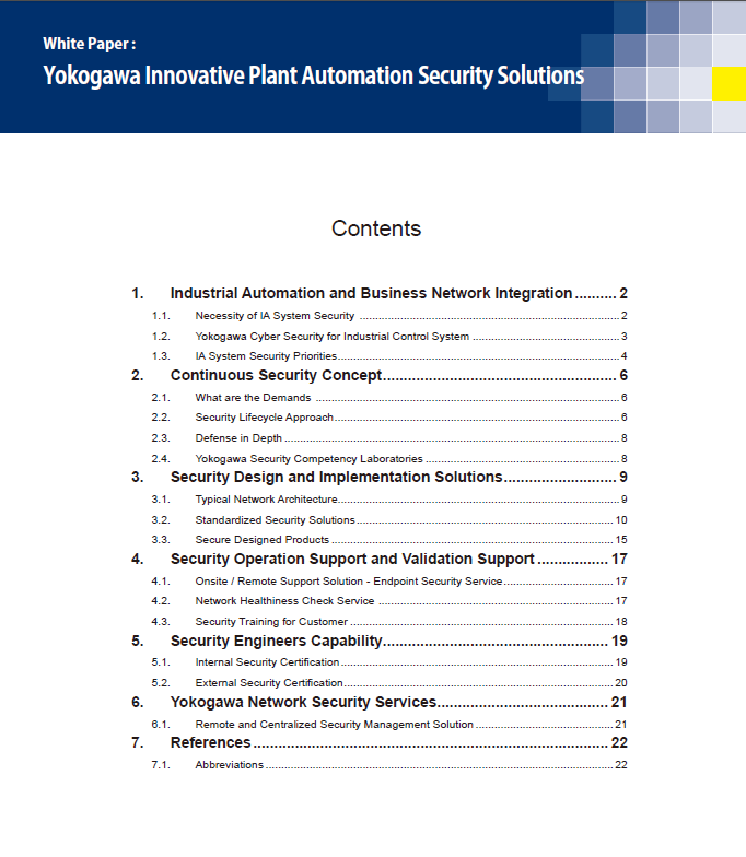 Yokogawa Innovative Plant Automation Security Solutions thumbnail