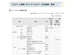 【サポート情報】PCソフトウエア・対応機種⼀覧表 thumbnail