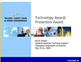 Technology Award - Bruce Jensen - Yokogawa