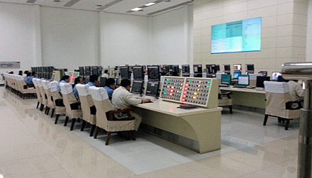 The MTO plant's central control room