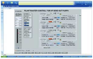 Figure 3. Plant master control for HP send out pumps